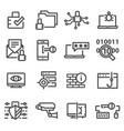 computer network protection cyber security icons vector image