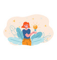creating bright idea business angel support vector image