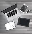 Creative office desktop workspace vector image
