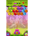 Cute game user interface with colorful bugs vector image
