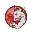 Democrat Donkey Mascot Boxer Boxing Retro