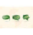 eco chat bubbles vector image vector image