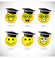 education smile set vector image vector image