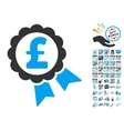 Featured Pound Price Label Icon With 2017 Year vector image vector image