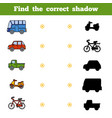 Find correct shadow game for children set of