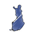 finland map silhouette vector image vector image