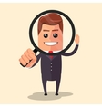 flat design Manager character vector image