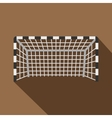 Football or soccer gate icon flat style vector image vector image