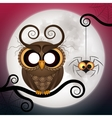 Halloween holiday crazy owl vector image