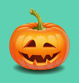 halloween pumpkin face - creepy smile jack o vector image