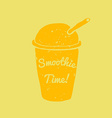 Hand drawn smoothie to go cup and smoothie time vector image vector image