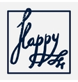 Happy handwritten in a frame vector image