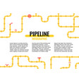horizontal industrial background with yellow pipes vector image vector image