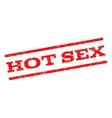 Hot Sex Watermark Stamp vector image