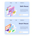 house insurance and safety smart house technology vector image vector image