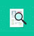 human resources flat cartoon paper vector image vector image