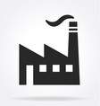 industrial factory logo silhouette vector image