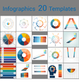 Infographics 20 Templates text area 7 positions vector image