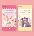 instagram template with baby shower design vector image vector image