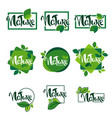 large collection lettering nature and organic vector image vector image