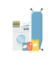laundry service elements washind machine vector image vector image