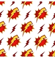 Lightning bolts seamless pattern in retro vector image vector image