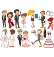 Men and women at the party vector image