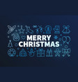 merry christmas on dark vector image