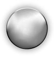 metallic rough blank button textured silver vector image