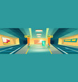 metro station empty subway platform underground vector image