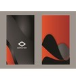 Modern business card vector image vector image
