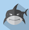Modern Flat Design Shark Icon vector image vector image