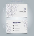 name card business template lines structure vector image