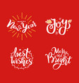 new year joy and best wishes merry holidays vector image vector image