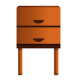 old nightstand icon cartoon style vector image