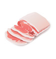 raw pork steak meat icon on white vector image vector image