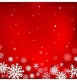 red snow mesh background vector image vector image