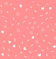 seamless pattern with hearts for valentine day vector image vector image