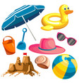 set for a beach holiday vector image