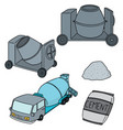 set of cement vector image