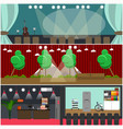set of opera house cinema interior flat vector image vector image