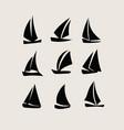 ship icon silhouettes vector image