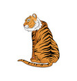 sitting bengal tiger vector image vector image