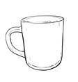 sketch of cup vector image vector image