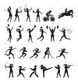 Sports Athletes Women Symbol Silhouette Set vector image