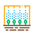 spray plant tool icon outline vector image