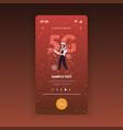 storekeeper in uniform using cellphone 5g online vector image vector image