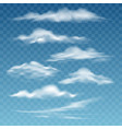 transparent storm clouds vector image vector image