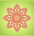 vintage oriental mandala sign boho frame vector image