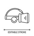 vr headset linear icon vector image vector image